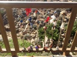 Padlocks tied to the Love Lock Bridge