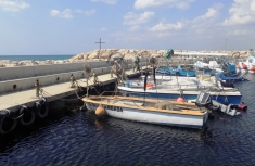 Fishing Boats and cross